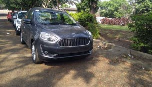 2018 Ford Aspire spotted in the 'Smoke Grey' colour