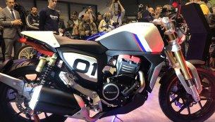 Mahindra Mojo-based Peugeot P2x Roadster & P2x Cafe Racer - 2018 Paris Motor Show Live