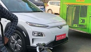 India-bound Hyundai Kona Electric spotted in New Delhi