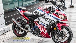 Yamaha YZF-R3 wears custom graphics and AMG decals