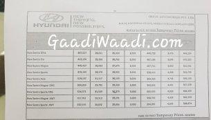 2019 Hyundai Santro price list leaked, range starts at INR 3.88 lakh