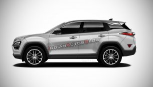 Tata Harrier in multiple colours - IAB Rendering