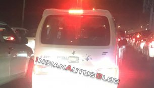 Maruti Suzuki Wagon R EV spotted on test in Gurgaon