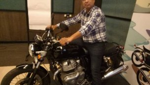 Royal Enfield 650 Twins displayed to dealers in India