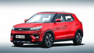 Mahindra S201 (Maruti Vitara Brezza slayer) rendered close to production