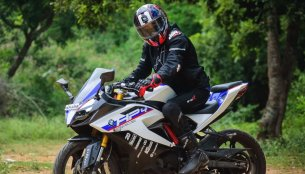 TVS Apache RR 310 customized with BMW HP4 Race livery [Video]