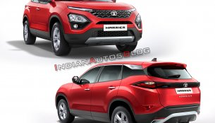 Tata Harrier imagined in 9 colours - IAB Rendering