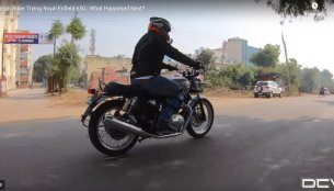 Triumph owner test rides the Royal Enfield Interceptor INT 650 [Video]