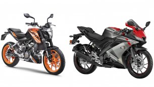 KTM 125 Duke vs. Yamaha R15 V3.0 - Price, features & spec comparison