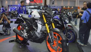 Yamaha MT-15 at the Thai Motor Expo 2018 - Live