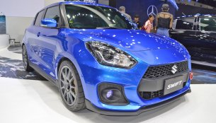 Speedy Blue Metallic Custom Suzuki Swift at 2018 Thai Motor Expo - Live