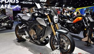 2019 Honda CB650R (standard & limited edition) on display at the Thai Motor Expo