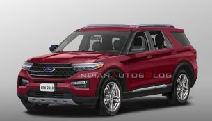 2020 Ford Explorer rendered in production guise