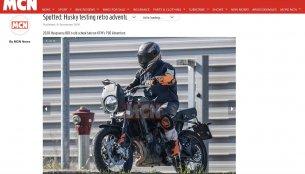 Husqvarna 801 Scrambler (KTM 790 Adventure based) spied testing in Europe