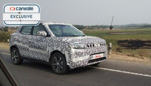 Mahindra S201 (Vitara Brezza rival) spotted testing on the Nashik highway