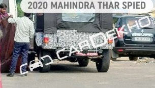 Next-gen 2020 Mahindra Thar makes spy photo debut
