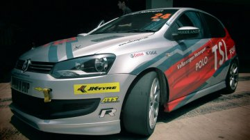 IAB drives the VW Polo R Cup racer around the BIC