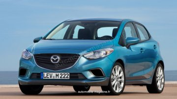 Rendering - The next generation Mazda2 is no longer a Ford Fiesta