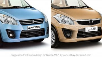 Mazda-Suzuki JV now official; Ertiga to hatch into Mazda VX-1 in mid-May