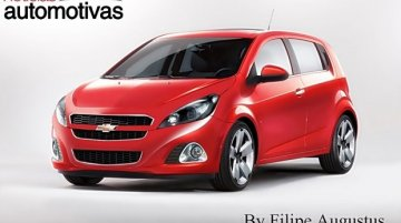 Rendering - The refreshed Chevrolet Sonic twins