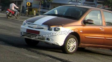 Spied - Tata Indigo eCS facelift sporting new body color spotted testing