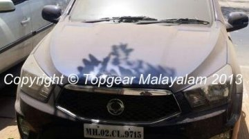 Spied - Ssangyong Actyon Sports spotted in India