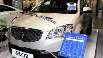 Ssangyong Korando C EV-R showcased at ENVEX 2013