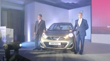 Live - 2013 Nissan Micra launched in India from INR 4.79 lakhs
