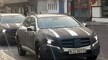 IAB reader snaps the India bound Mercedes GLA in Dubai, again