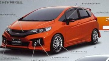Leaked catalog shows the Mugen tuned 2014 Honda Jazz (Fit)