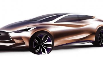 Sebastian Vettel influenced Infiniti Q30 Concept teased ahead of its Frankfurt debut