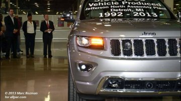 USA - The Jeep Grand Cherokee's factory employees celebrate the rollout of the 5 millionth vehicle