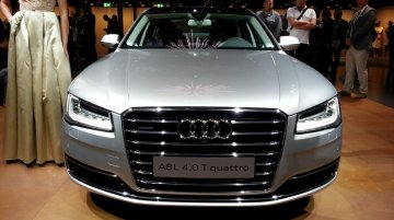 IAB Report - 2014 Audi A8 facelift was secretly showcased at Auto Expo, bookings open at select dealers