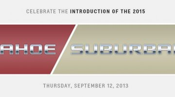 USA - Chevrolet Tahoe and Suburban debut on September 12th