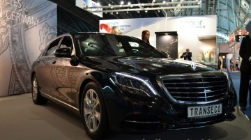 Frankfurt Live - Transeco 2014 Mercedes S Class armored vehicle showcased