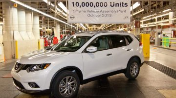 USA - First 2014 Nissan Rogue (X-Trail) rolls out as the 10 millionth Tennessee-built car