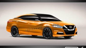 Rendering - Detroit-bound Nissan Maxima concept