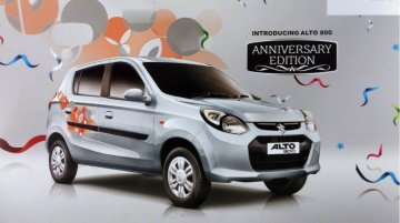 Maruti Alto 800 Anniversary Edition launched at Rs 3.12 lakh, brochure inside