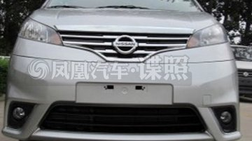 Spied - Nissan Evalia facelift bearing the new family face spotted in China