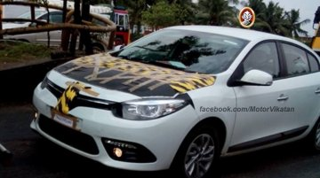 Spied - 2013 Renault Fluence facelift caught testing in Chennai