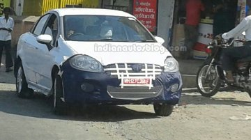 Spied - IAB reader snaps the 2014 Fiat Linea facelift on test