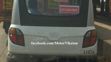 Spied - Left hand drive Bajaj RE60 caught testing