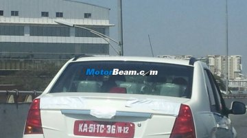 Spied - Mahindra Verito Electric caught on test