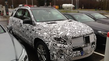 Spied - 2015 Mercedes M Class facelift & 2015 CLS facelift caught on test