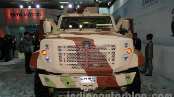 DefExpo 2014 - Tata Motors unveils LAMV armoured light patrol vehicle