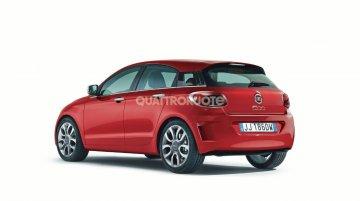 Rendering - Fiat 500 four-door (Fiat Punto replacement)