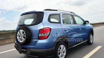 Render - Chevrolet Spin MPV soft-road version heading to Brazil