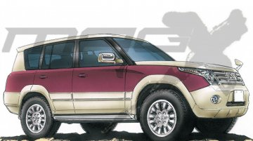 Rendering - Next generation Mitsubishi Pajero