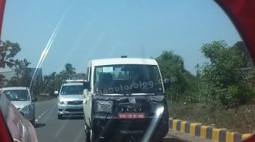 Spied - Mahindra preparing a facelift for Maxximo Mini van?
