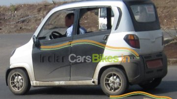 Spied - Bajaj RE60 LHD export variant caught testing